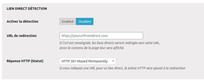 Page Metabox Lien Detection